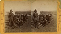 Warm Springs Indian Scouts in camp