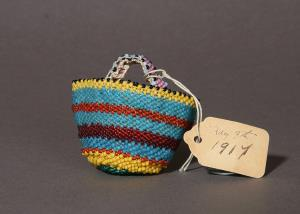 Beaded crochet basket