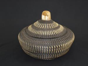 A large baleen basket by Joshua Sakeagak
