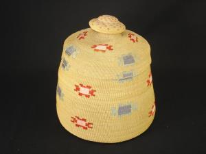 A large and fine Attu covered basket