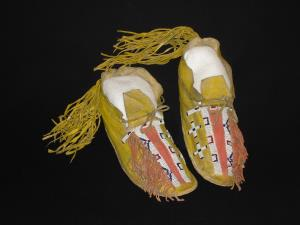 A pair of Cheyenne moccasins
