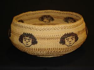 A rare Modoc basket by Kitty Pete