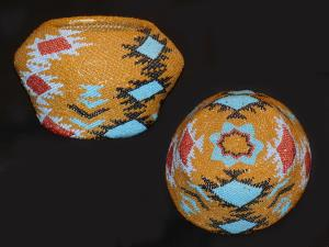 A Paiute beaded basket