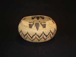 Mono Lake Paiute basket with butterflies
