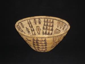 A Panamint polychrome bowl with figures