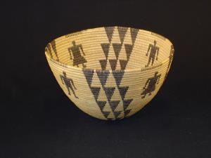 A Panamint bowl with male and female figures