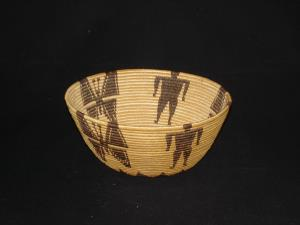 Panamint bowl with men and butterflies