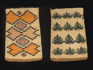 Plateau corn husk bag with trees