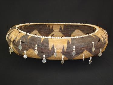 Large and Fine Pomo Polychrome Gift Basket