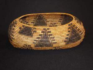 A Pomo oval basket