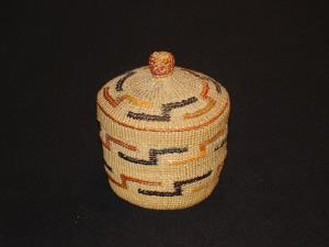 A Tlingit small bowl with cover