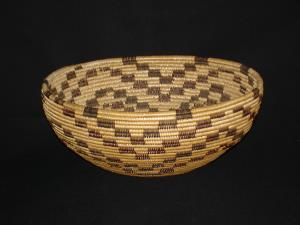 A Washoe polychrome bowl