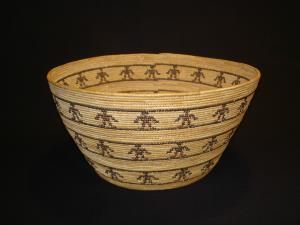 Yokuts figured basket by Mrs. Britches