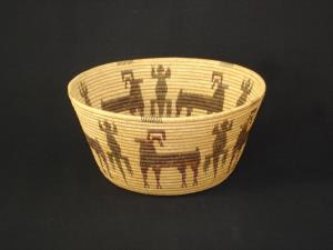 An Extremely Finely-woven Panamint basket, c1910