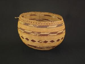 A Large and Fine Pomo twined basket