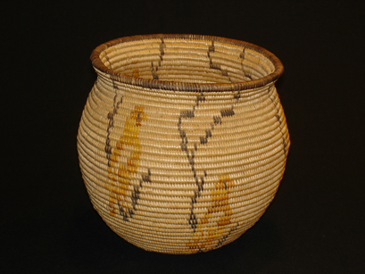 Chemehuevi olla with six birds