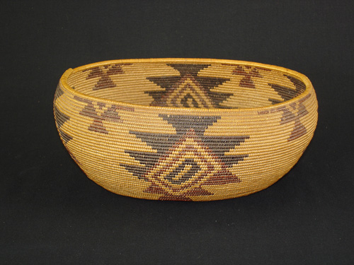 A very fine Mountain Maidu Polychrome basket