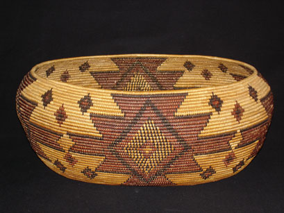 A very fine Maidu basket by Salena Jackson