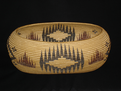 A Mono Lake Paiute basket by Minnie Brown
