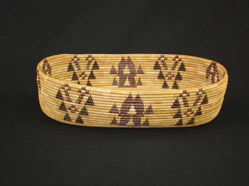 A very rare Polychrome Yosemite Paiute basket