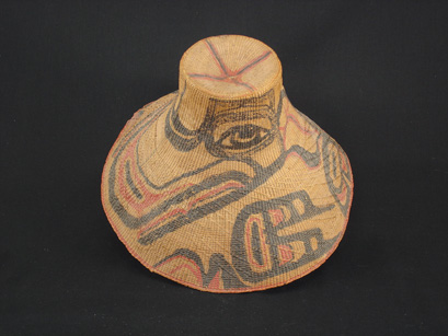 A Tlingit basketry hat